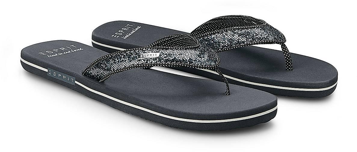 esprit beach sandal glitter in grau dunkel kaufen. Black Bedroom Furniture Sets. Home Design Ideas