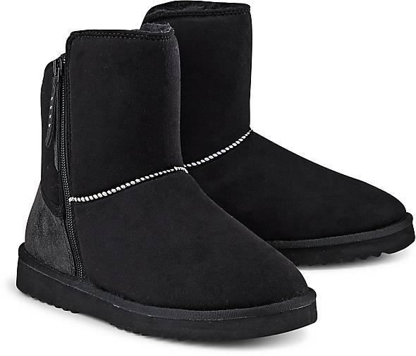 esprit damen uma star boot schlupfstiefel schwarz black 38 eu. Black Bedroom Furniture Sets. Home Design Ideas