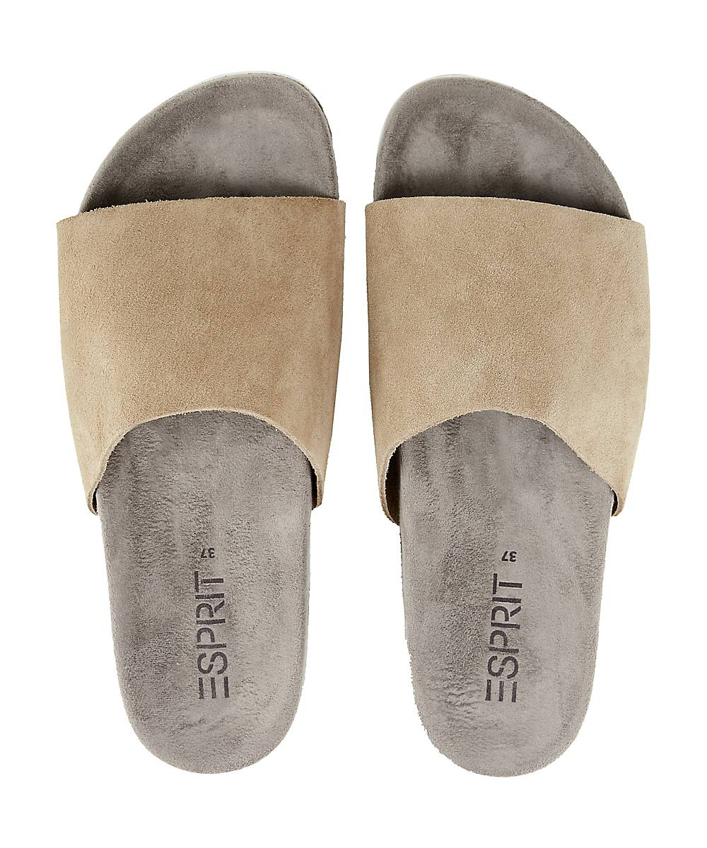 Esprit Sandale Celina Slide In Beige Kaufen Pantoletten