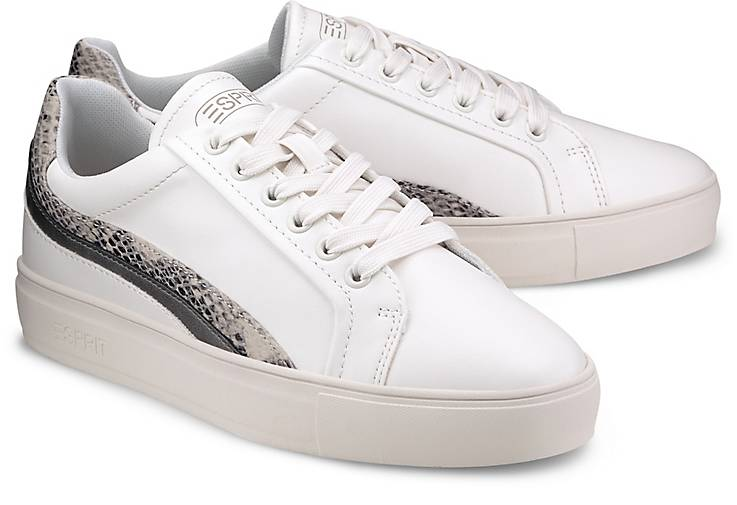 Esprit Sneaker in Leder Optik im Online Shop kaufen