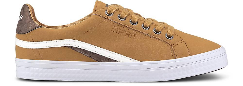 Großer Rabatt Esprit Sneaker PHOEBIE LACE UP vegan ocker 48522103 sl56 Verkauf