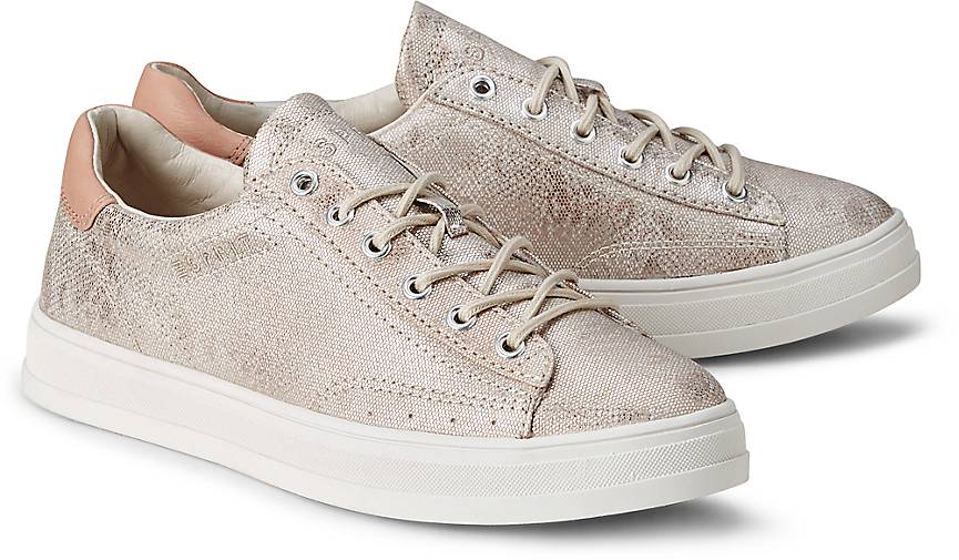 ESPRIT Sneaker, Kontrast-Sohle, Schnürung, Blau