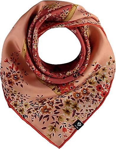 FRAAS Nickituch aus reiner Seide mit floralem Print