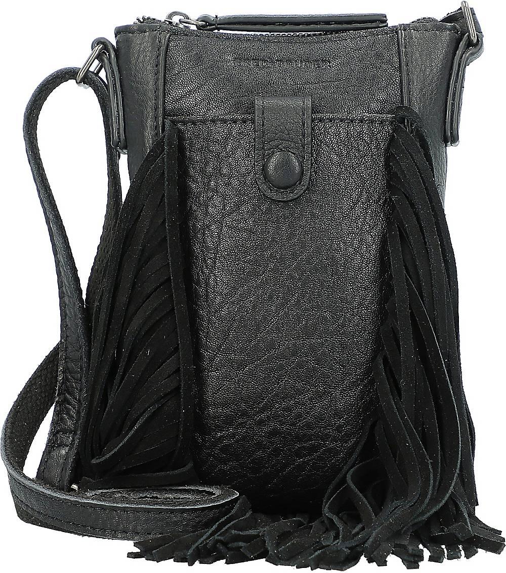 FREDsBRUDER, Frizzle Handytasche Leder 13,5 Cm in schwarz, Handyhüllen & Zubehör für Damen