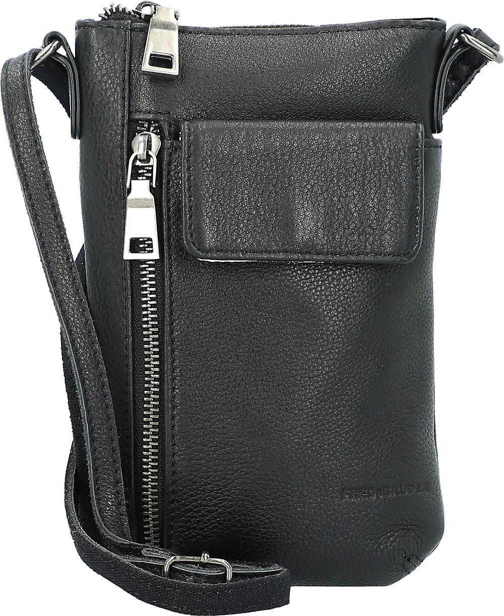 FREDsBRUDER, Mobili Handytasche Leder 14 Cm in schwarz, Handyhüllen & Zubehör für Damen