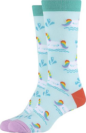 FUN Socks 2er-Pack Damen Crew Socks mit trendigen Einhörnern