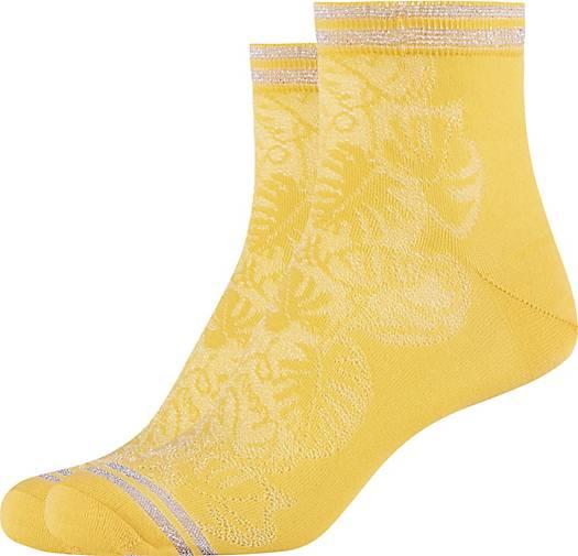 FUN Socks 2er-Pack Socken mit zartem Blattmuster