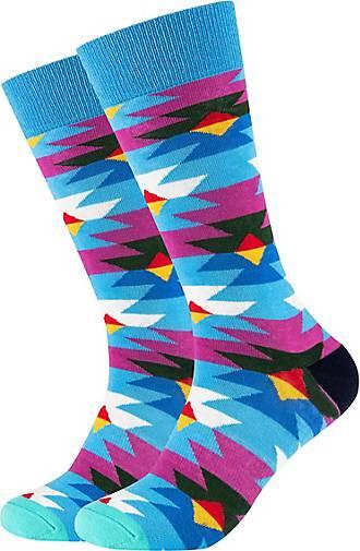 FUN Socks Crew Socks 2er Pack in buntem Retro-Muster