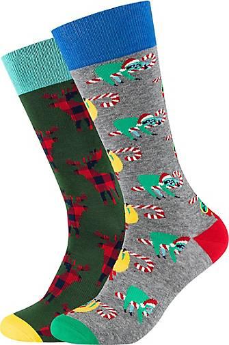FUN Socks Socken im 2er Pack mit tollem Weihnachts-Motiv