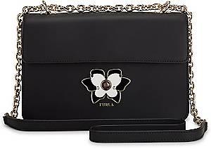 Furla, Mughetto Shoulder Bag in schwarz, Umhängetaschen für Damen