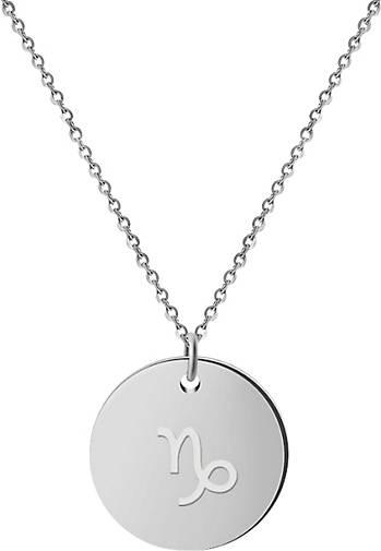 GOOD.designs Kette mit Anhänger Horoskop Kette Steinbock