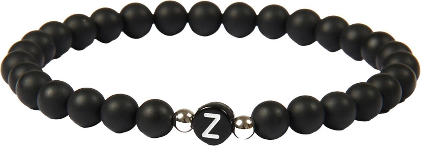 GOOD.designs Perlenarmband Ab-Schwarz-Z