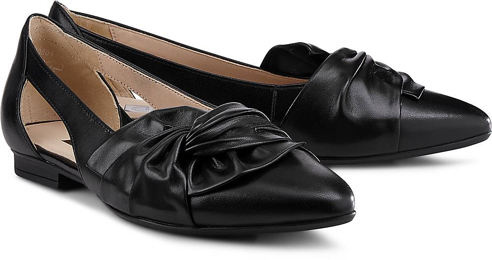 Gabor, Cut-Out-Ballerina in schwarz, Ballerinas für Damen Gr. 36