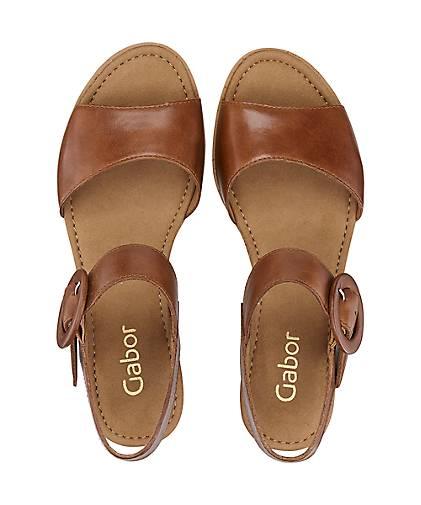 Gabor Keil-Sandalette in braun-mittel braun-mittel braun-mittel kaufen - 47157701 GÖRTZ Gute Qualität beliebte Schuhe 81d3c5