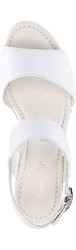Gabor Keil-Sandalette | weiß