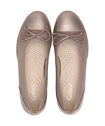 Gabor Gabor Gabor Klassik-Ballerina in beige kaufen - 45604107 GÖRTZ Gute Qualität beliebte Schuhe eb90d8