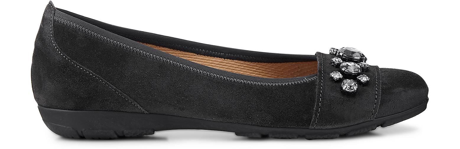 Gabor Komfort-Ballerina Gute in grau-dunkel kaufen - 47629001 | GÖRTZ Gute Komfort-Ballerina Qualität beliebte Schuhe 1f3b96