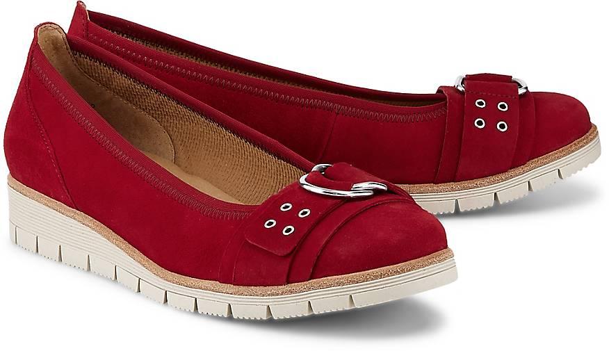 Gabor Komfort-Ballerina in rot kaufen - 48223101 GÖRTZ Gute Qualität beliebte Schuhe