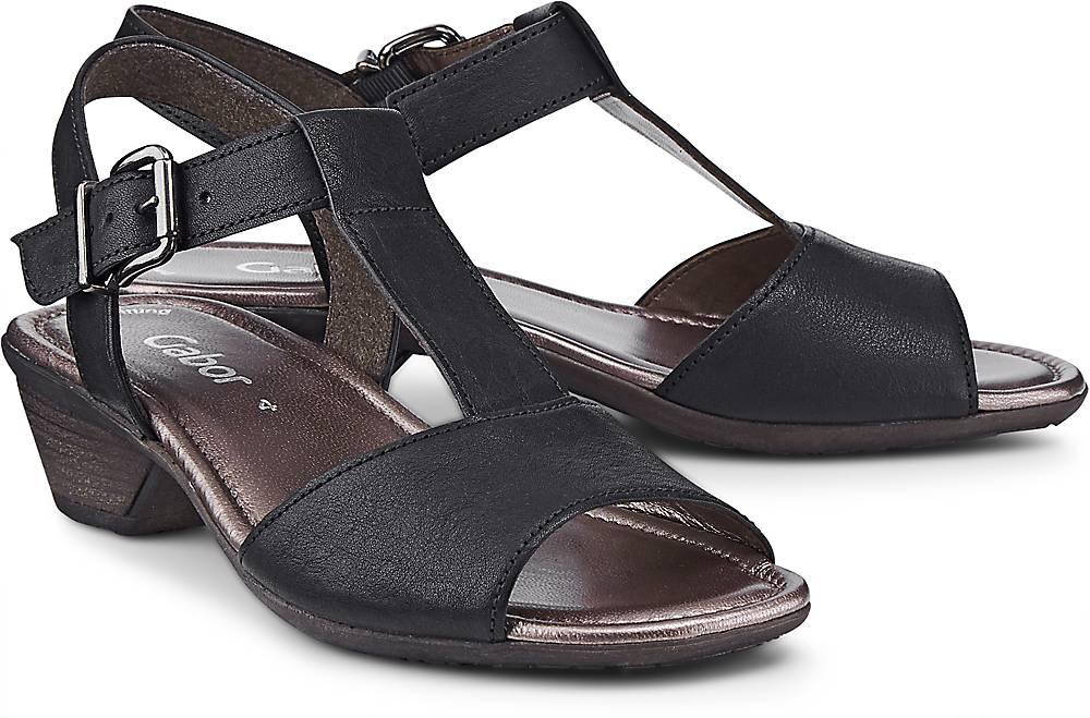 Leder-Sandalette von Gabor in schwarz für Damen. Gr. 37,37 1/2,38,38 1/2,39,40 1/2 Preisvergleich