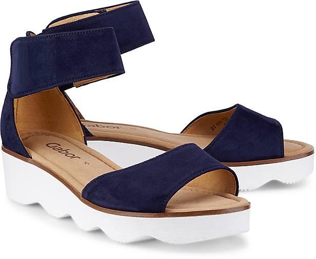 Gabor Keilsandalette für Damen in blau | P&P Shoes