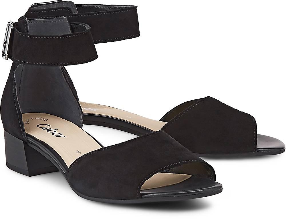 Riemchen-Sandalette von Gabor in schwarz für Damen. Gr. 37,38,38 1/2,39,40 Preisvergleich