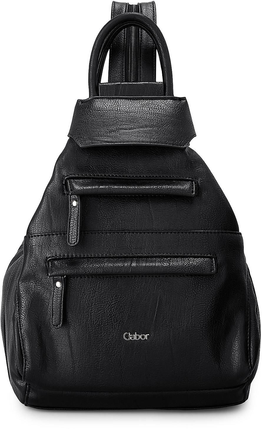 Rucksack UTA von Gabor in schwarz für Damen. Gr. 1