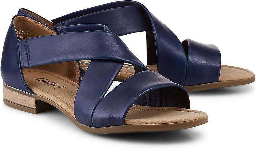 Gabor Leder Riemchen Sandalen blau Gr.39 Neu