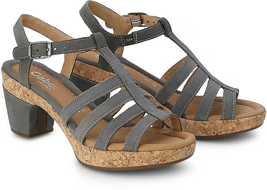 Sandalette ST.TROPEZ von Gabor in taupe für Damen. Gr. 36 2/3,37 1/3,38,38 2/3,39 1/3,40,40 2/3,41 1/3,43 1/3