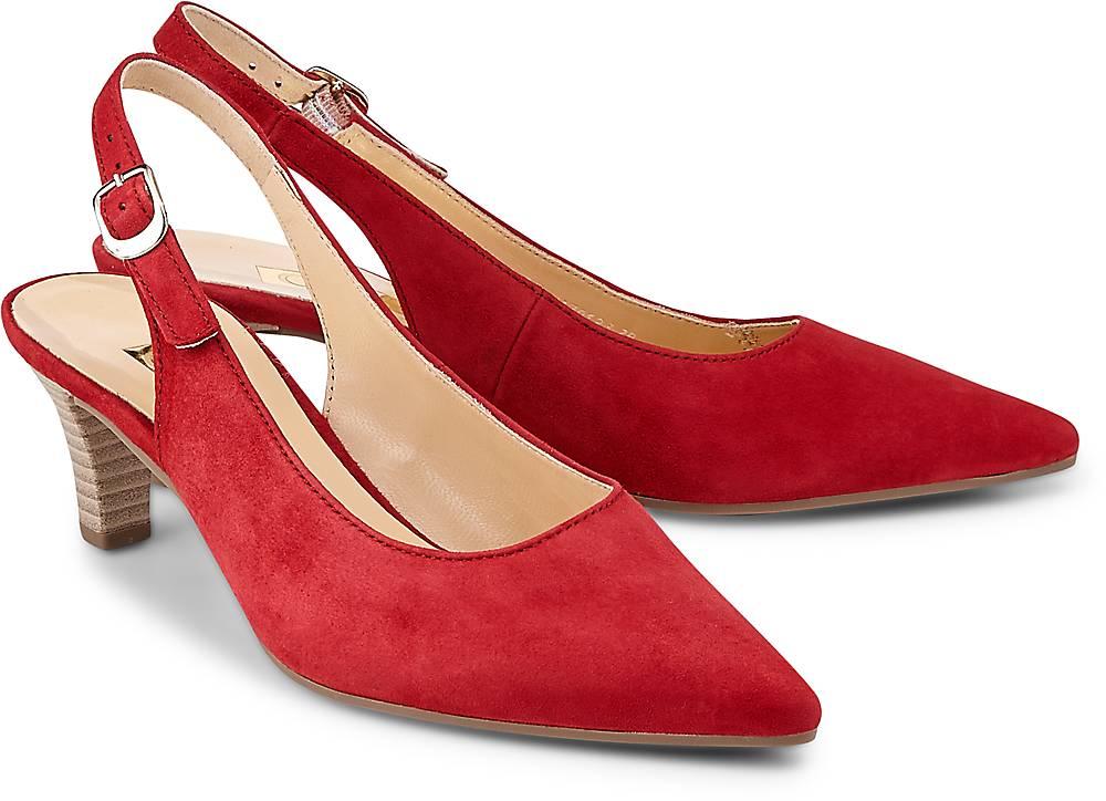 Sling-Pumps von Gabor in rot für Damen. Gr. 38 1/2,39 Preisvergleich