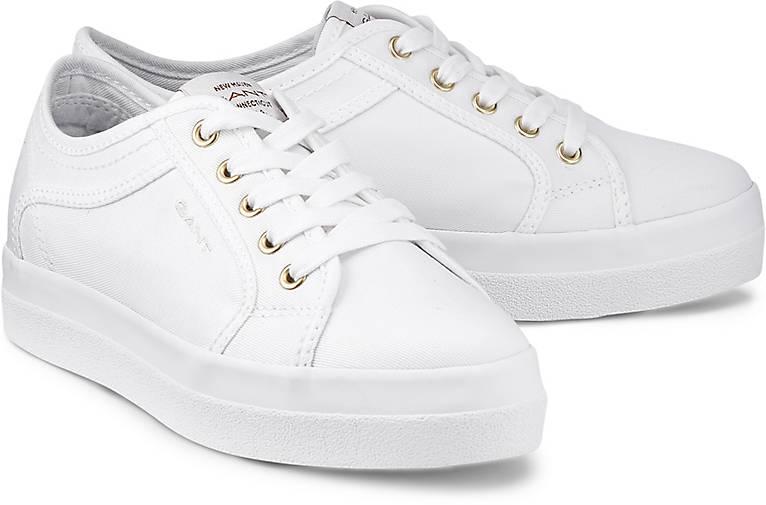 Gant Sneaker weiß braun