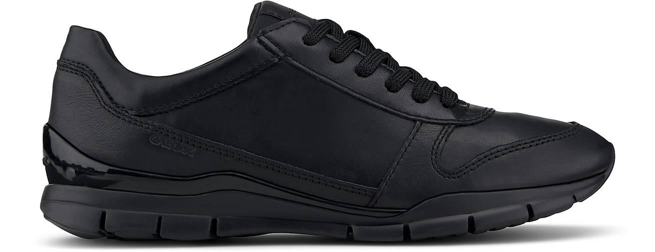 Geox – Sneaker 'Sukie' aus Leder – Schwarz