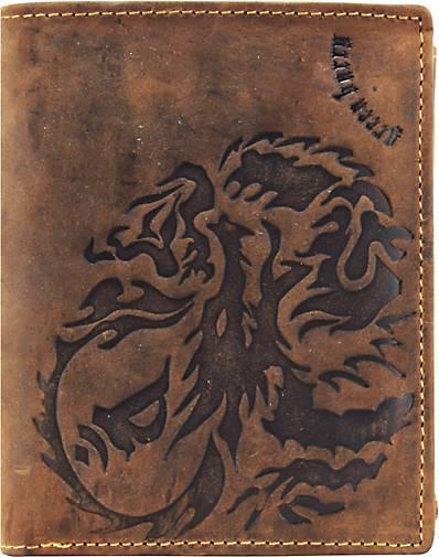 Greenburry Vintage Dragon Geldbörse Leder 10 cm