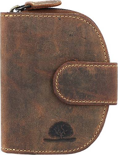 Greenburry Vintage Geldbörse Leder 9 cm