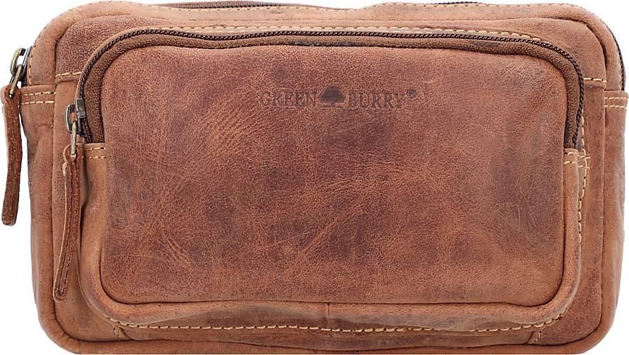 Greenburry Vintage Gürteltasche Leder 20 cm
