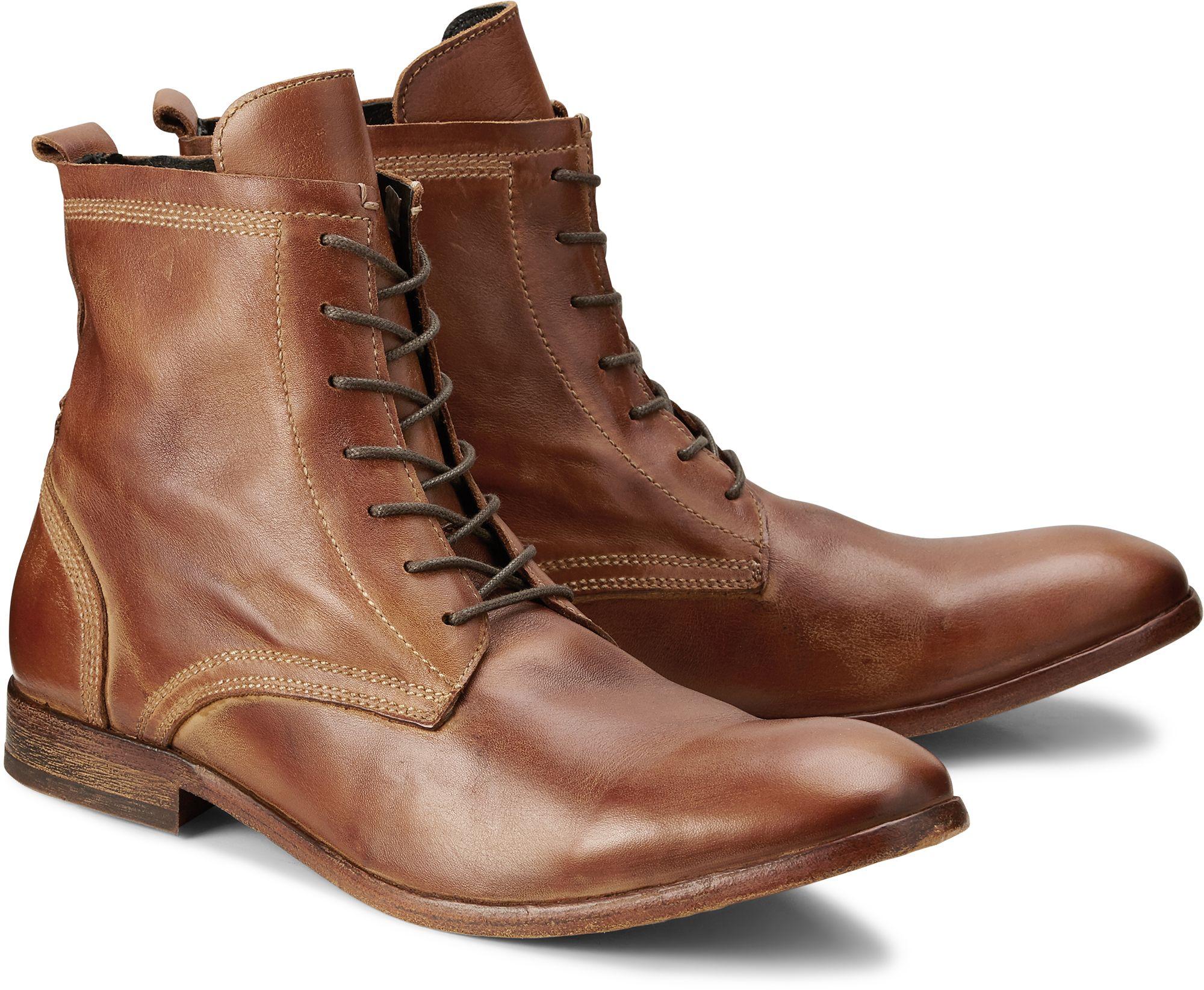 Boots SWATHMORE von H by Hudson in braun hell für Herren. Gr