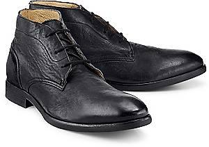 H by Hudson, Ryecroft Calf in schwarz, Boots für Herren