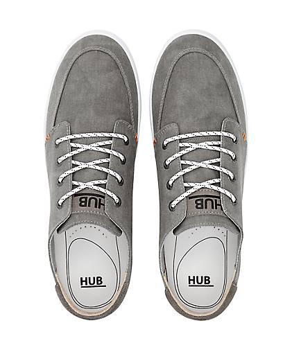 HUB Canvas-Sneaker 47113803 in grau-hell kaufen - 47113803 Canvas-Sneaker | GÖRTZ Gute Qualität beliebte Schuhe 8ccb3e