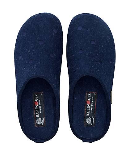 Haflinger Pantoffel NOBLESSE in blau-dunkel kaufen - 46460401 46460401 46460401 | GÖRTZ Gute Qualität beliebte Schuhe bac8ea