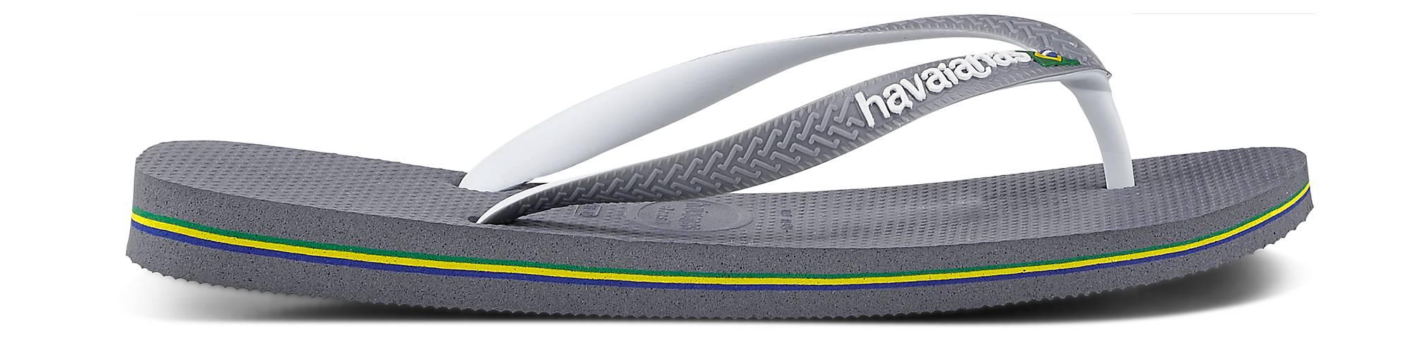 Havaianas Zehentrenner - BRASIL in grau-hell kaufen - Zehentrenner 46406202 | GÖRTZ Gute Qualität beliebte Schuhe 647657