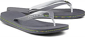 Havaianas, Zehentrenner Brasil in hellgrau, Sandalen für Herren