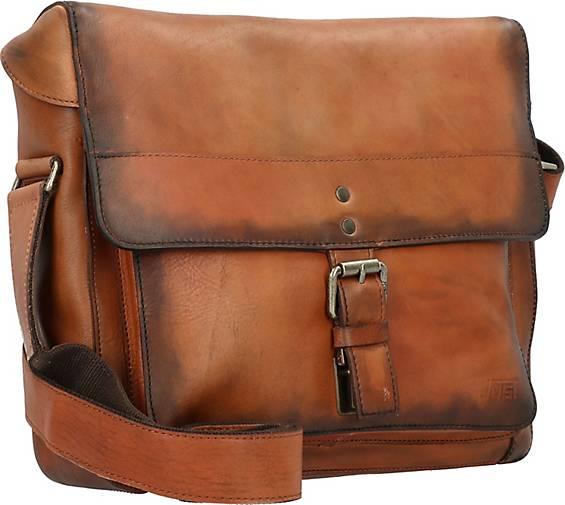 JOST Ranger Umhängetasche M Messenger Bag Leder 36 cm Laptopfach