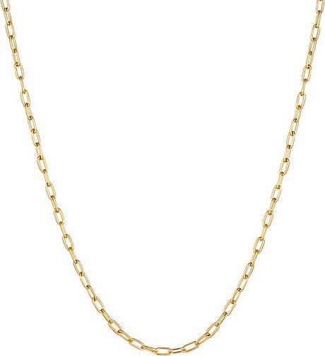 KUZZOI Halskette Herren Gliederkette Oval Basic Fein 925 Silber
