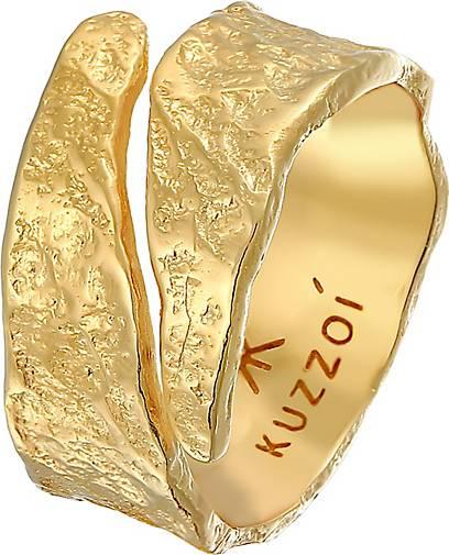 KUZZOI Ring Bandring Struktur Used Look 925 Silber