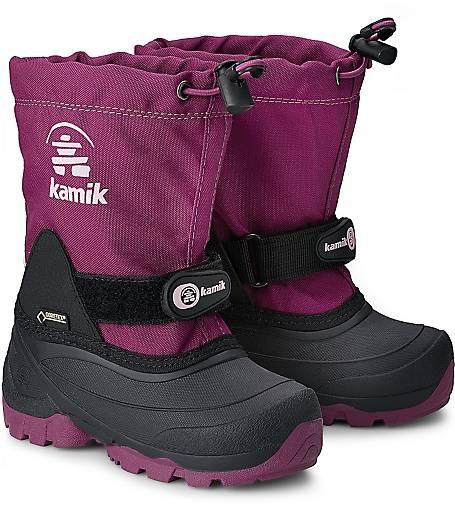 Artikel klicken und genauer betrachten! - Stiefel von Kamik. Warme Füße sind mit Kamik-Stiefeln dank des herausnehmbarem Zylex®-Innenschuhs garantiert! Das Besondere: Weitenregulierung im Mittelschaft mittels Klettverschluss - in Pink.   im Online Shop kaufen
