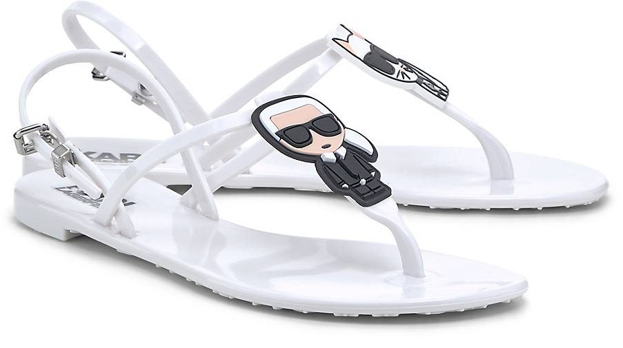 Karl Lagerfeld Sandale WHITE RUBBER