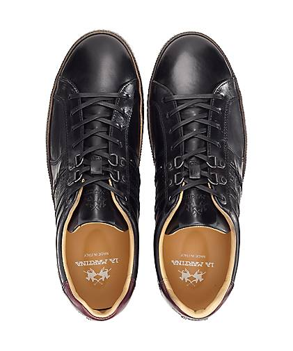 La Martina - Leder-Sneaker in schwarz kaufen - Martina 47666901 | GÖRTZ Gute Qualität beliebte Schuhe b5d218