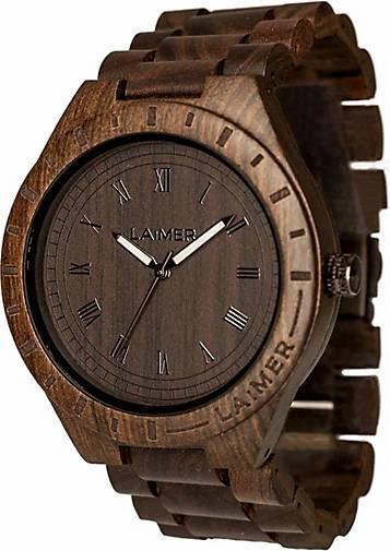 Laimer Armbanduhr Holzuhr Black Edition