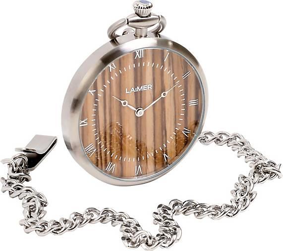 Laimer Armbanduhr Taschenuhr Zebrano