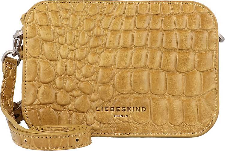Liebeskind Luka Kroko Umhängetasche Leder 20 cm