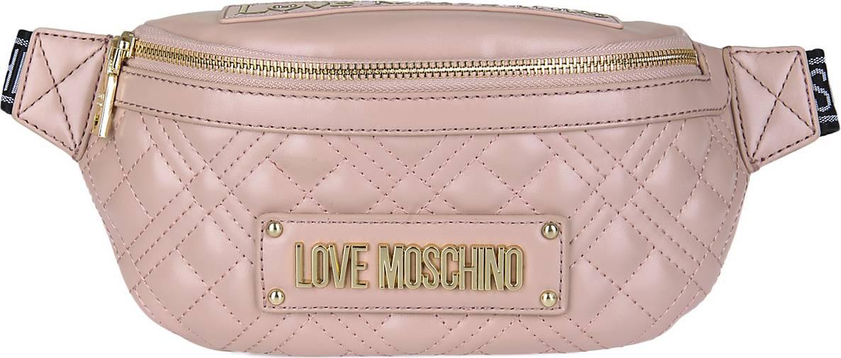 Love Moschino Bauchtasche mit Label Plate
